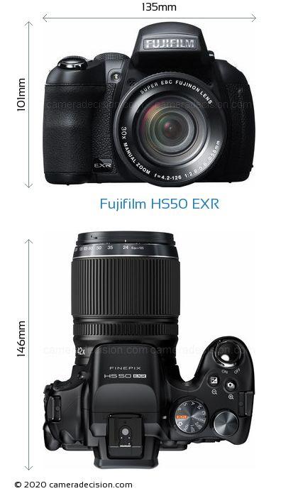Fujifilm HS50 EXR Body Size Dimensions
