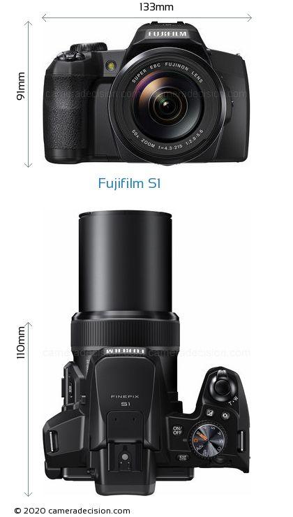 Fujifilm S1 Body Size Dimensions