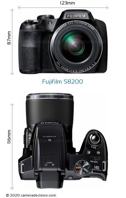 Fujifilm S8200 Body Size Dimensions