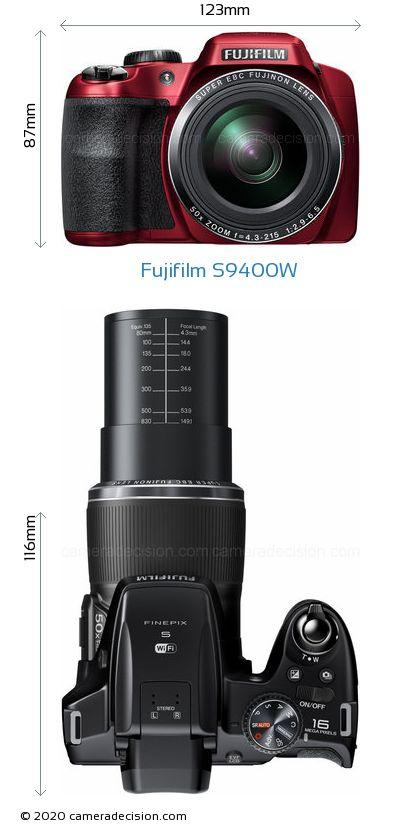 Fujifilm S9400W Body Size Dimensions