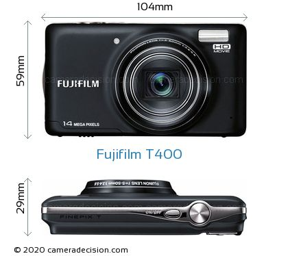 Fujifilm T400 Body Size Dimensions