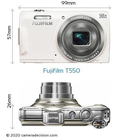 Fujifilm T550 Body Size Dimensions