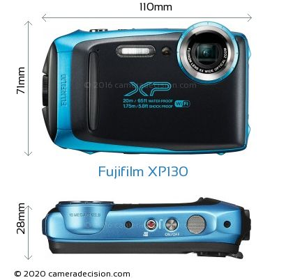 Fujifilm XP130 Body Size Dimensions