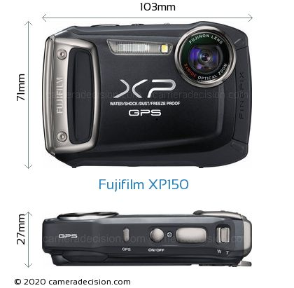 Fujifilm XP150 Body Size Dimensions