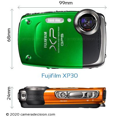 Fujifilm XP30 Body Size Dimensions