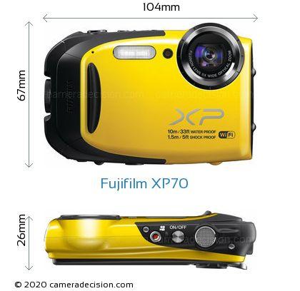 Fujifilm XP70 Body Size Dimensions