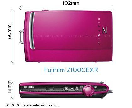 Fujifilm Z1000EXR Body Size Dimensions