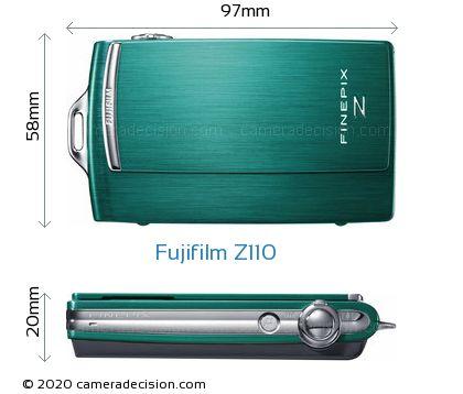 Fujifilm Z110 Body Size Dimensions