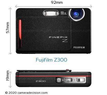 Fujifilm Z300 Body Size Dimensions