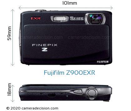 Fujifilm Z900EXR Body Size Dimensions