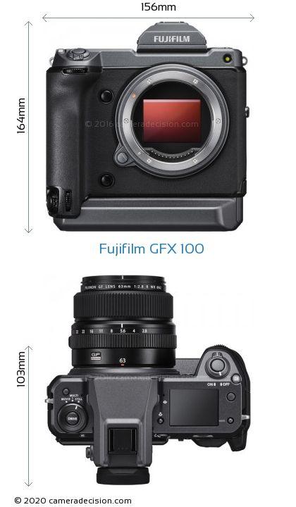Fujifilm GFX 100 Body Size Dimensions