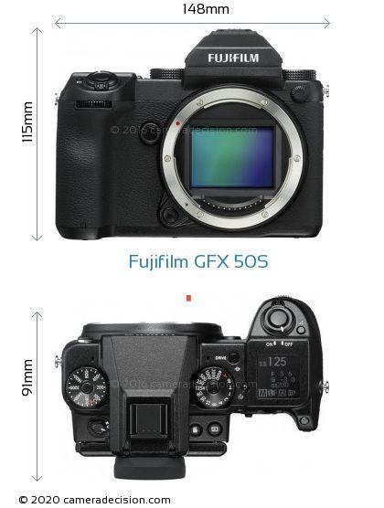 Fujifilm GFX 50S Body Size Dimensions