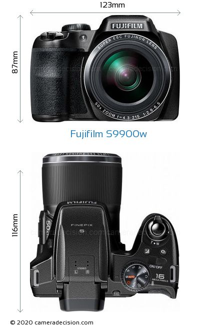 Fujifilm S9900w Body Size Dimensions