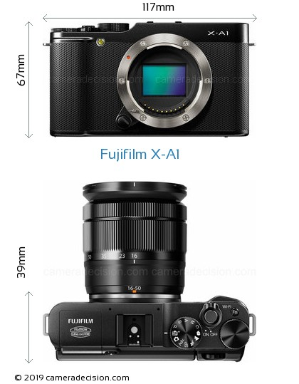 Fujifilm X-A1 Body Size Dimensions