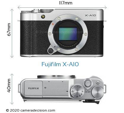 Fujifilm X-A10 Body Size Dimensions
