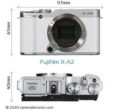 Fujifilm X-A2 Body Size Dimensions