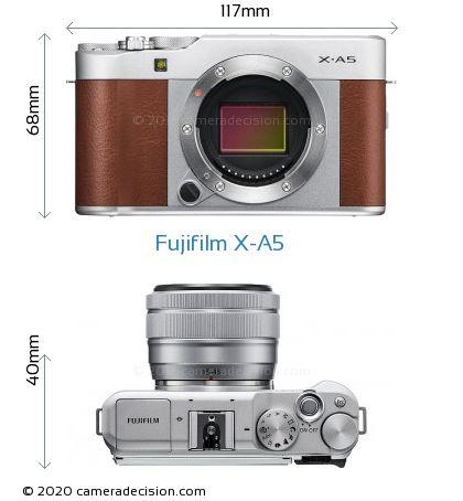 Fujifilm X-A5 Body Size Dimensions