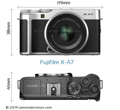 Fujifilm X-A7 Body Size Dimensions