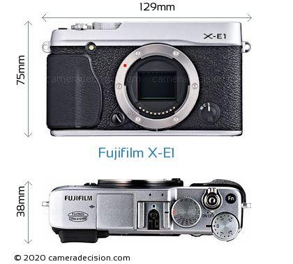 Fujifilm X-E1 Body Size Dimensions