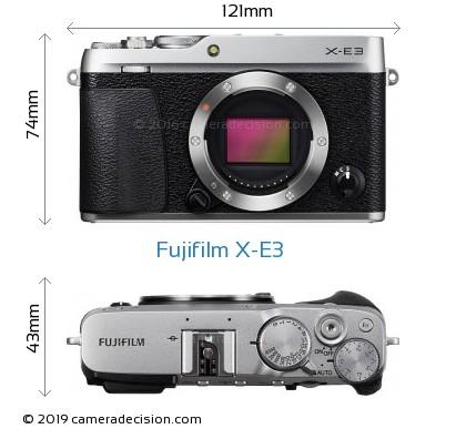 Fujifilm X-E3 Body Size Dimensions