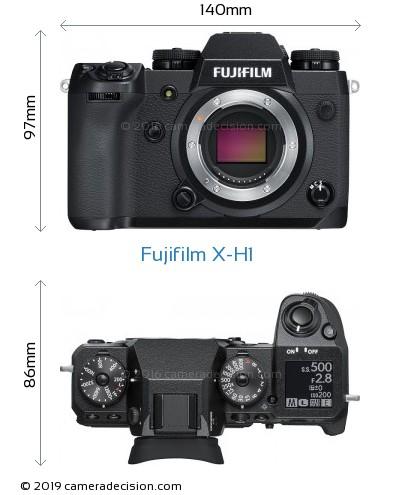 Fujifilm X-H1 Body Size Dimensions