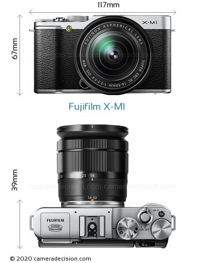 Fujifilm X-M1 Body Size Dimensions