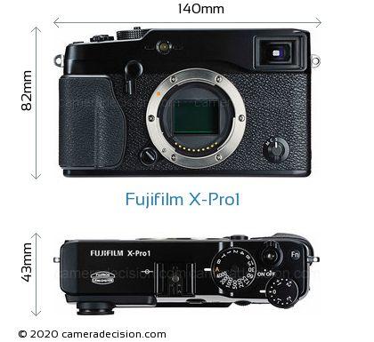 Fujifilm X-Pro1 Body Size Dimensions
