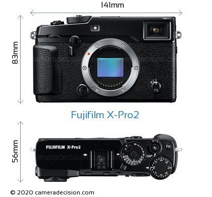 Fujifilm X-Pro2 Body Size Dimensions