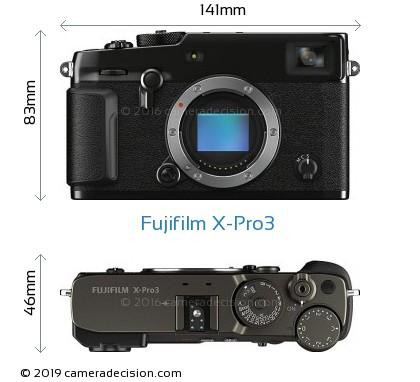 Fujifilm X-Pro3 Body Size Dimensions