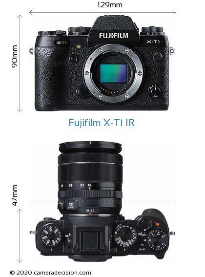 Fujifilm X-T1 IR Body Size Dimensions