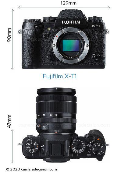 Fujifilm X-T1 Body Size Dimensions