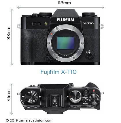 Fujifilm X-T10 Body Size Dimensions