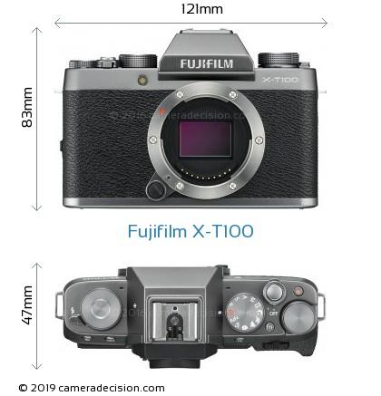Fujifilm X-T100 Body Size Dimensions