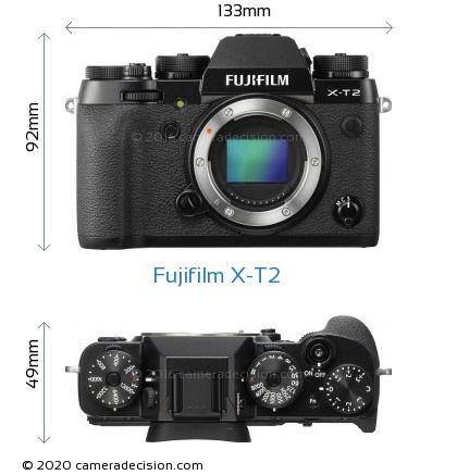 Fujifilm X-T2 Body Size Dimensions