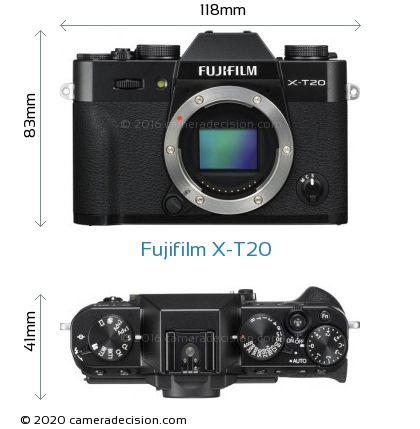 Fujifilm X-T20 Body Size Dimensions
