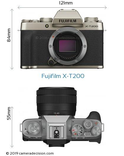 Fujifilm X-T200 Body Size Dimensions