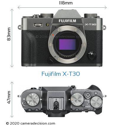 Fujifilm X-T30 Body Size Dimensions