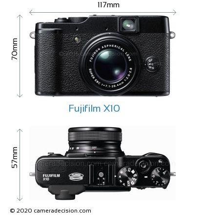 Fujifilm X10 Body Size Dimensions