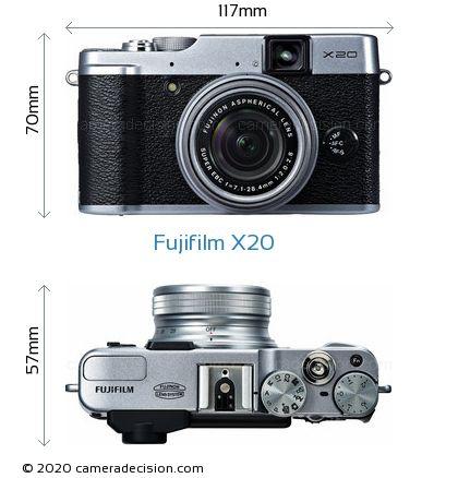 Fujifilm X20 Body Size Dimensions