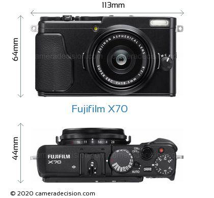 Fujifilm X70 Body Size Dimensions