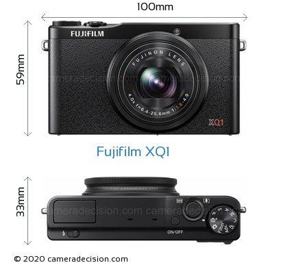 Fujifilm XQ1 Body Size Dimensions