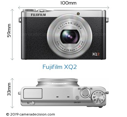 Fujifilm XQ2 Body Size Dimensions