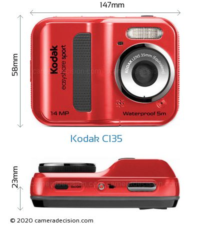 Kodak C135 Body Size Dimensions