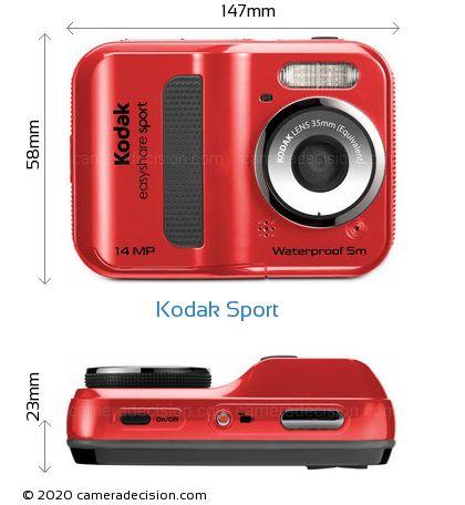 Kodak Sport Body Size Dimensions