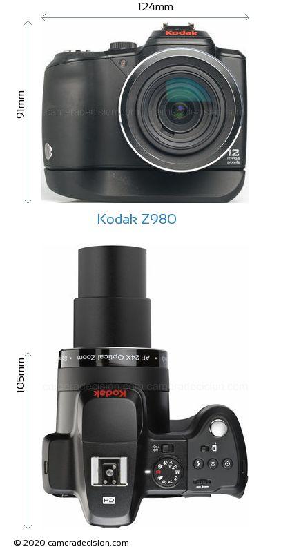 Kodak Z980 Body Size Dimensions