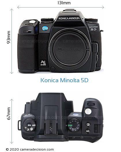 Konica Minolta 5D Body Size Dimensions