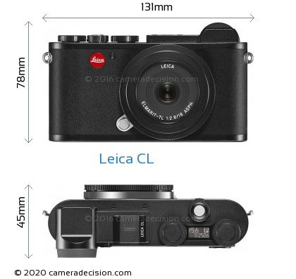 Leica CL Body Size Dimensions