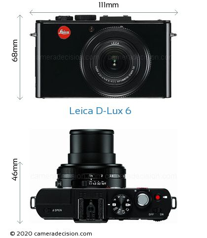 Leica D-Lux 6 Body Size Dimensions