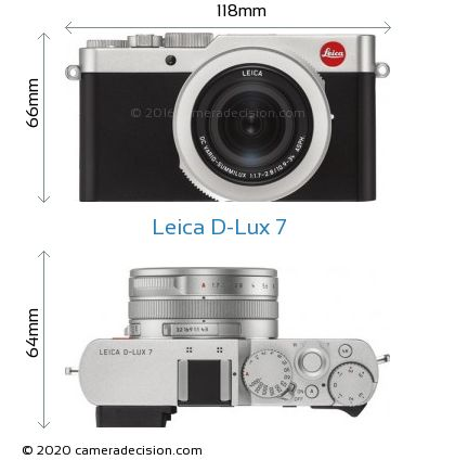 Leica D-Lux 7 Body Size Dimensions