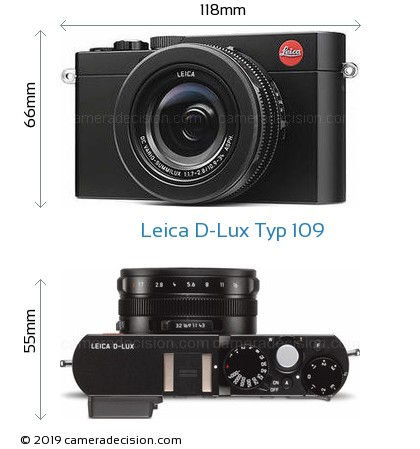 Leica D-Lux Typ 109 Body Size Dimensions